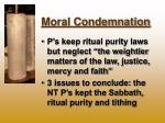 moral condemnation