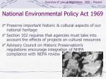 national environmental policy act 1969
