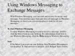 using windows messaging to exchange messages