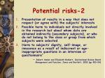 potential risks 2
