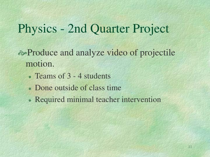Physics - 2nd Quarter Project