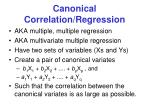 canonical correlation regression