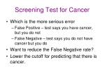 screening test for cancer
