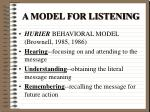 a model for listening