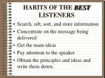 habits of the best listeners