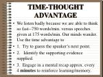 time thought advantage