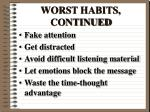 worst habits continued