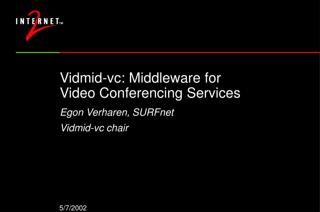 vidmid vc middleware for video conferencing services l.