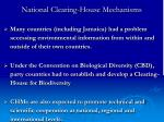national clearing house mechanisms