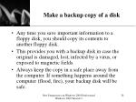 make a backup copy of a disk