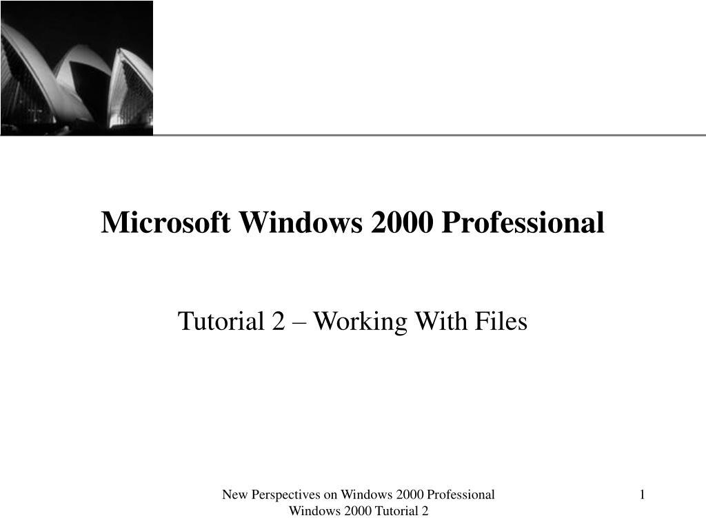 microsoft windows 2000 professional l.