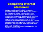 competing interest statement10