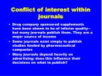 conflict of interest within journals
