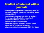 conflict of interest within journals31