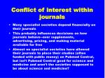 conflict of interest within journals33