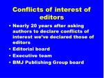 conflicts of interest of editors