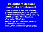 do authors declare conflicts of interest