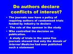 do authors declare conflicts of interest16