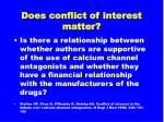 does conflict of interest matter20