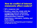 how do conflict of interest statements affect readers26