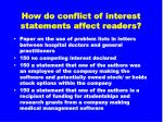 how do conflict of interest statements affect readers28