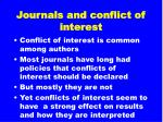 journals and conflict of interest