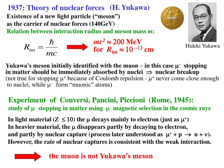1937: Theory of nuclear forces