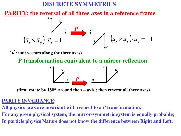 DISCRETE SYMMETRIES