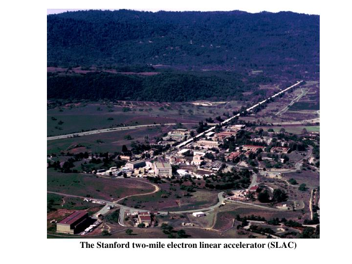 The Stanford two-mile electron linear accelerator (SLAC)