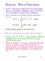 baryon wave functions11