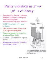 parity violation in e decay
