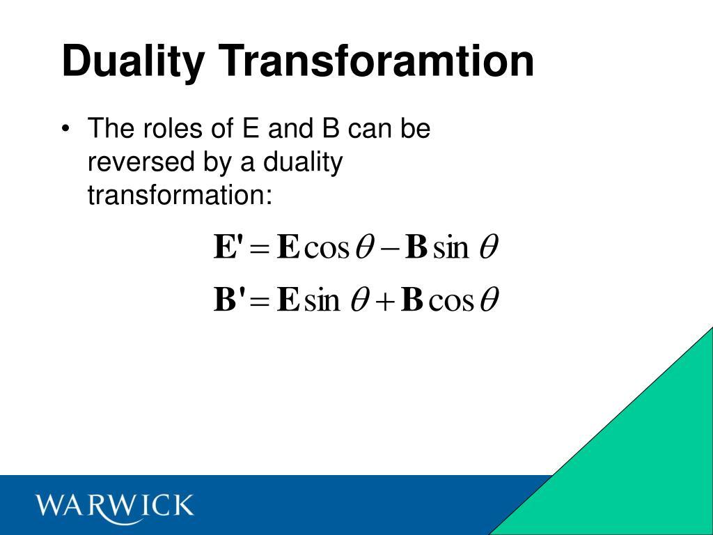 Duality Transforamtion