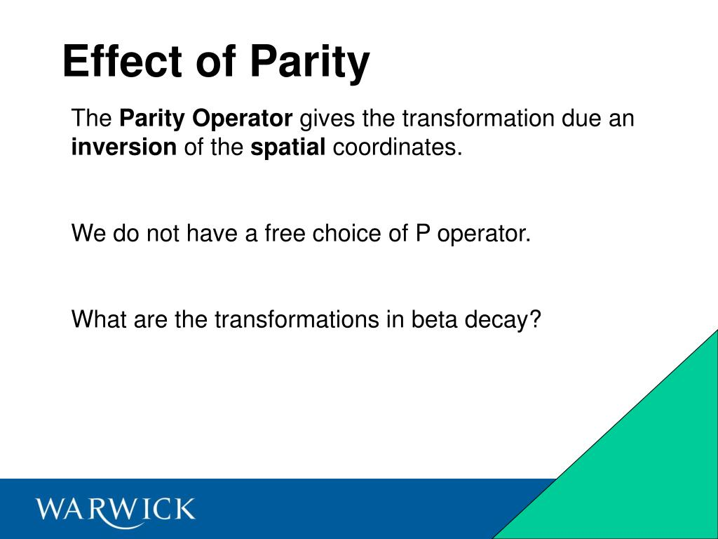 Effect of Parity