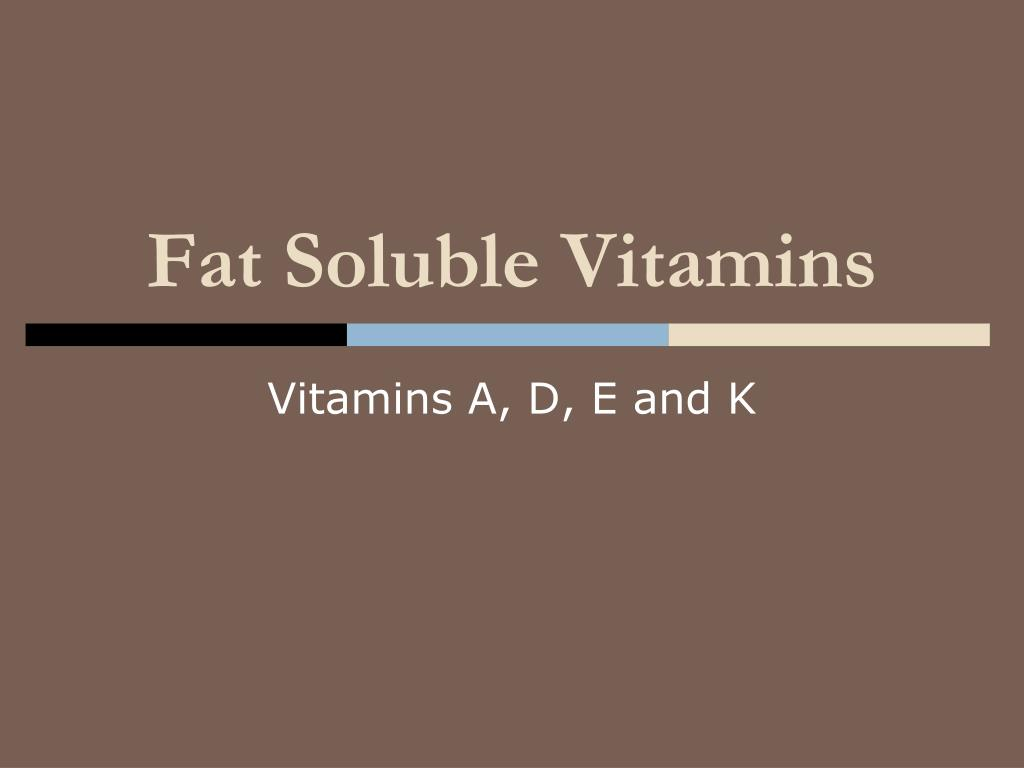 fat soluble vitamins l.