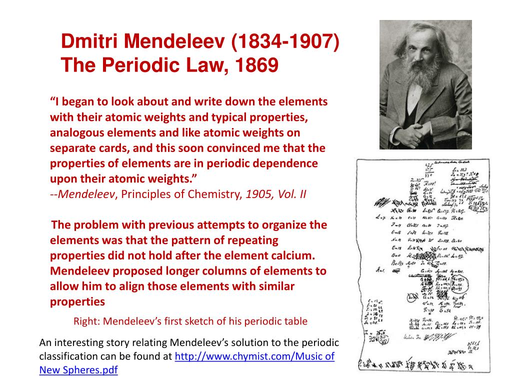 Johann dobereiner contribution to periodic table gallery ppt history on powerpoint the periodic classification of the dmitri mendeleev 1834 1907 gamestrikefo gallery gamestrikefo Image collections