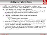 sakharov conditions