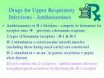 drugs for upper respiratory infections antihistamines