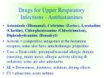 drugs for upper respiratory infections antihistamines9