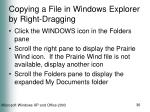 copying a file in windows explorer by right dragging
