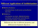 different applications of antihistamines10