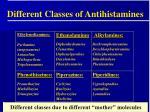 different classes of antihistamines