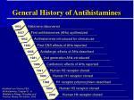 general history of antihistamines