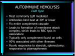 autoimmune hemolysis cold type
