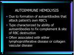 autoimmune hemolysis