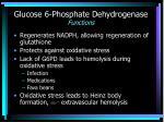glucose 6 phosphate dehydrogenase functions