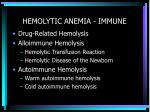 hemolytic anemia immune