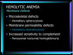 hemolytic anemia membrane defects