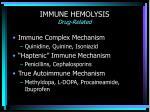immune hemolysis drug related