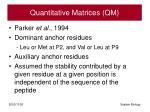quantitative matrices qm
