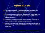 option a cons29